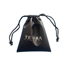 PU leather drawstring bag gift pouch